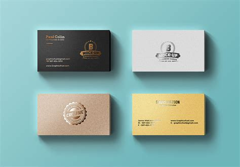 foil business card template foil business cards mockup psd graphicsfuel