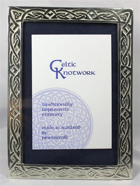 Handmade Scottish Gifts - scottish handmade celtic knotwork small pewter picture