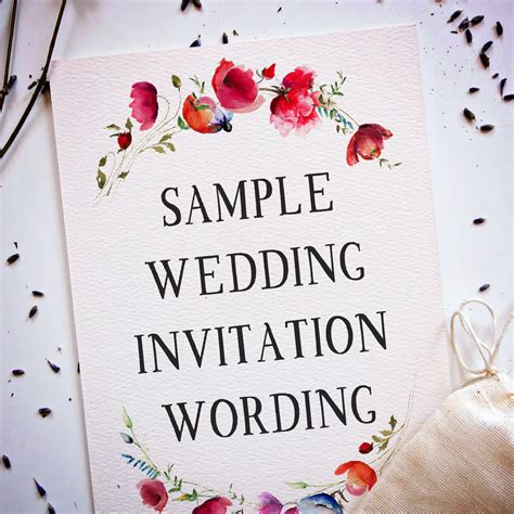 wedding invitation wording samples wedding invitation wording