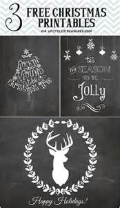 If you love christmas chalkboards and free printables then you will