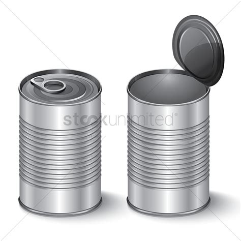 tin cans tin cans vector image 1598251 stockunlimited