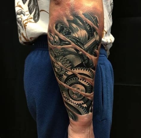 mechanical sleeve tattoo designs best 25 mechanical arm ideas on