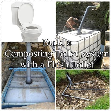 Composting Toilet How To Build by Build A Composting Toilet System With A Flush Toilet