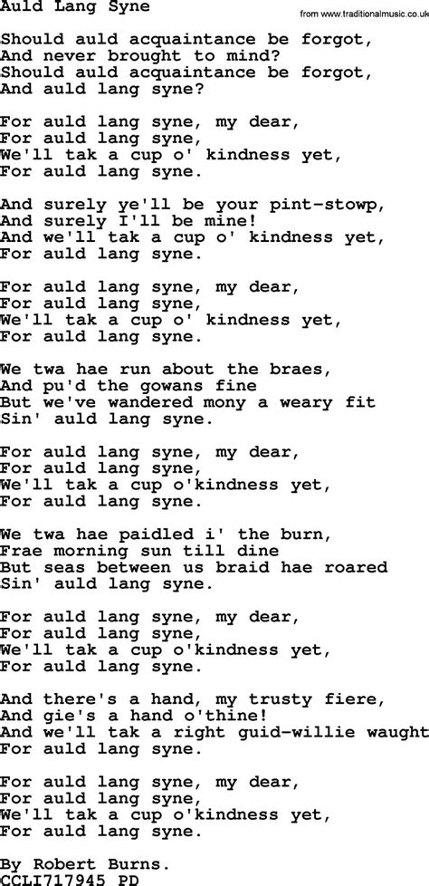printable lyrics auld lang syne 1000 images about hymn sheet music free on pinterest