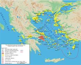 athens on map classical athens