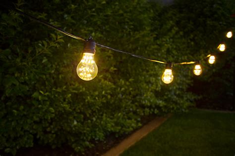 Outdoor Patio String Lights Led Outdoor Led Decorative String Lights 10 In Line Sockets Fits E26 Bulbs Empty Bases