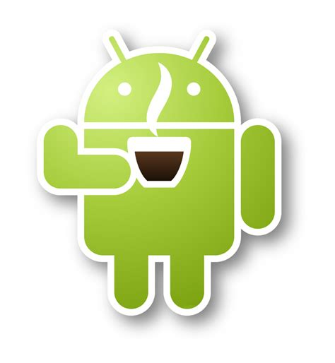 android bot android robot coffee transparent png stickpng