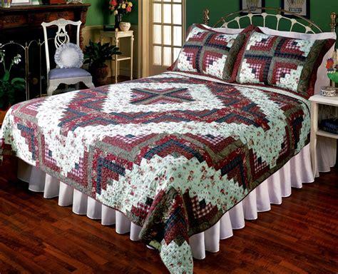 ruby log cabin quilt set elegant decor blackmountainquiltsnet blackmountainquiltsnet