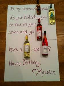 Wine birthday card way better than the beer cakes and birthday candy