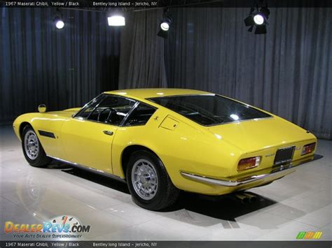 yellow maserati ghibli 1967 maserati ghibli yellow black photo 2 dealerrevs com