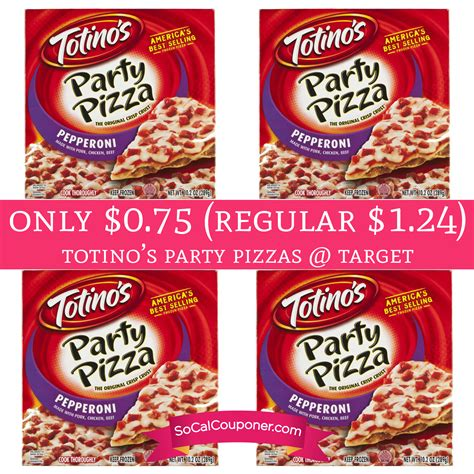 Only $0.75 (Regular $1.24) Totino?s Party Pizzas @ Target Until 10/22   Deal Hunting Babe