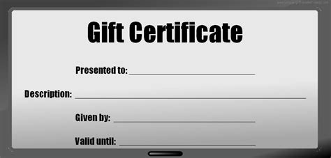 blank gift card template blank gift certificates to print white gold