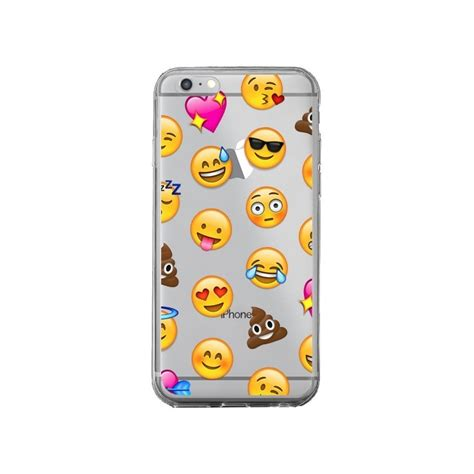 coque emoticone emoji transparente pour iphone 6 plus et 6s plus laetitia