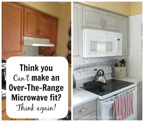how to install the range microwave without a cabinet hack your kitchen for an the range microwave kitchen