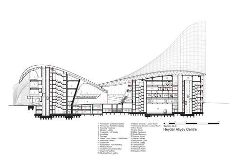 zaha hadid section gallery of heydar aliyev center zaha hadid architects 52
