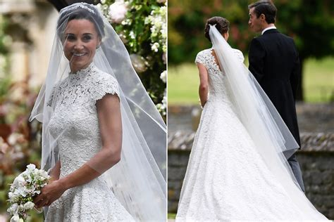 pippa wedding pippa middleton stuns in custom made wedding gown new york post
