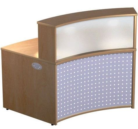 Acrylic Reception Desk Vision Concave Reception Desk Acrylic Counter Top Office Reality