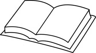 open book clip art colouring pages