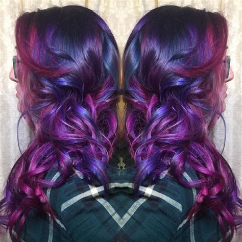how to color hair purple multidimensional purple and pink hair hair colors hair