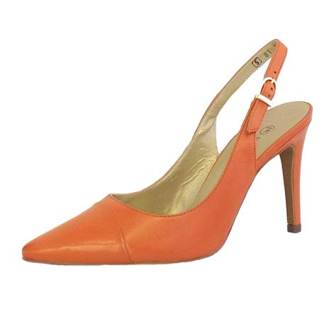 coral shoes kaiser desmona coral leather slingback