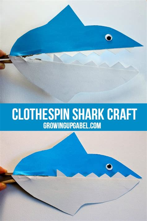 shark crafts for shark clothespin craft for