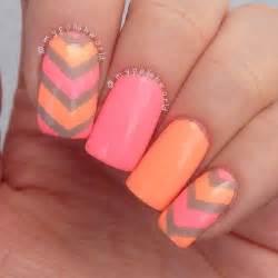 35 neon orange nail art design