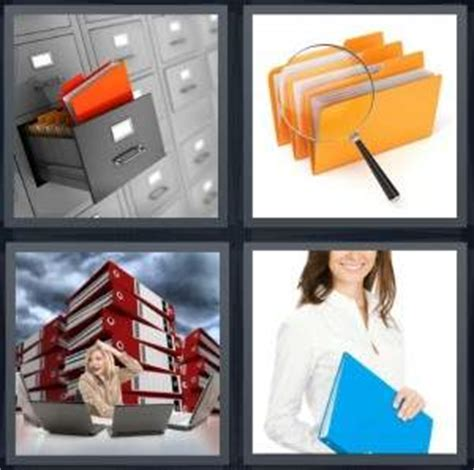 4 pics 1 word answer for drawer files binders report
