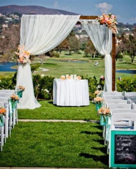 backyard wedding ceremony ideas outdoor wedding ceremony decoration ideas full wedding magazine