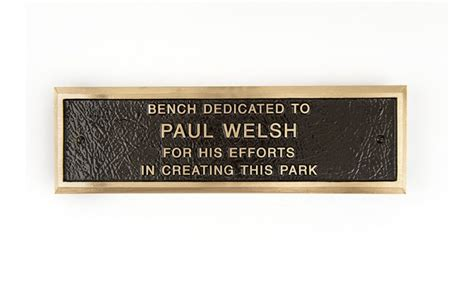brass plaques for benches cast bronze bench plaques thebenchfactory