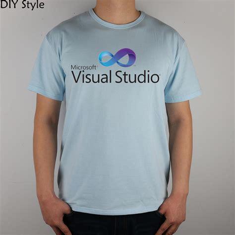Hoodie Sweater Visual Studio Premium aliexpress buy microsoft visual studio t shirt top lycra cotton t shirt new design