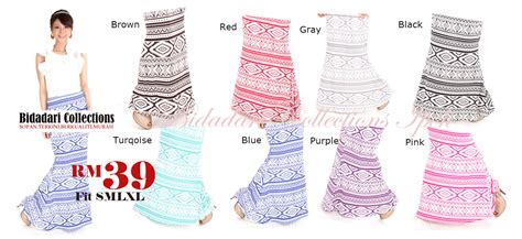 Baju Renang Muslimah Ipoh bidadari collections ipoh malaysia tribal patern skirt