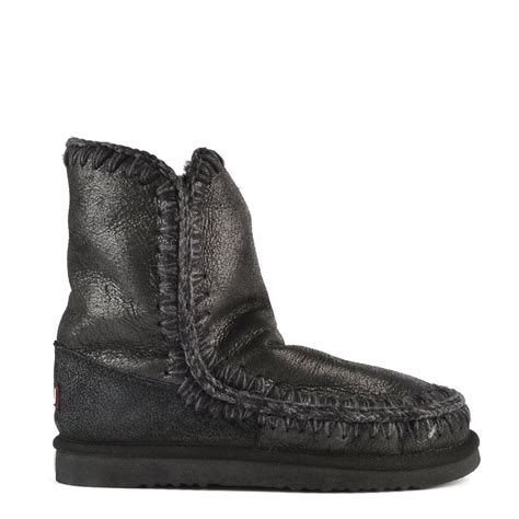 mou boots sale buy mou boots eskimo 24cm cracked black shearling boot