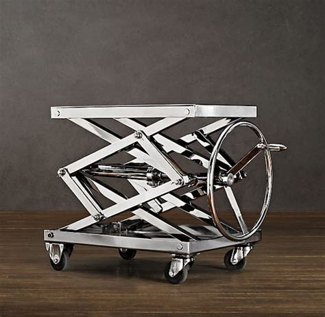 Scissor Table by Restoration Hardware Scissor Table Lifts Objects With A