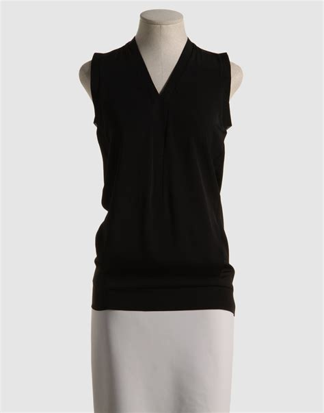 Black Blouse calvin klein blouse in black lyst
