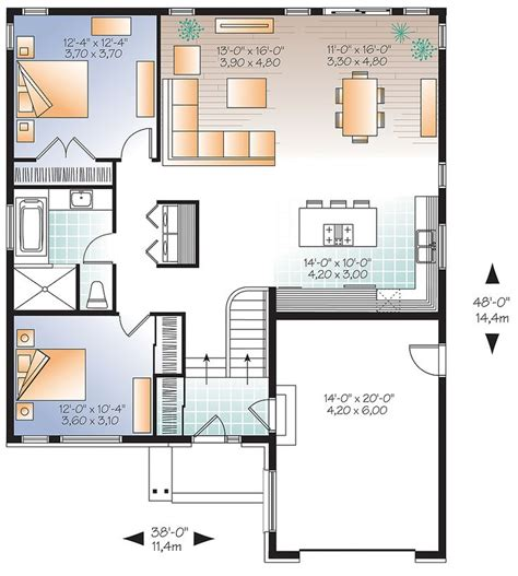 17 Best Images About Small House Plans With Attached Floor Plans For Small Houses Modern
