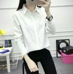 Kemeja Blouse Panjang Katun Jepang Cewek Hem Tunik Wanita Xl Murah baju kemeja wanita putih panjang daftar update harga terbaru dan terlengkap indonesia
