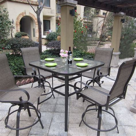 pub height patio furniture trying bar height patio table and chairs at home