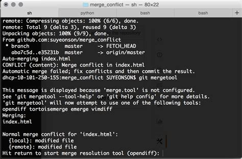 git tutorial merge conflict how the git mergetool solved my anxiety fears and most
