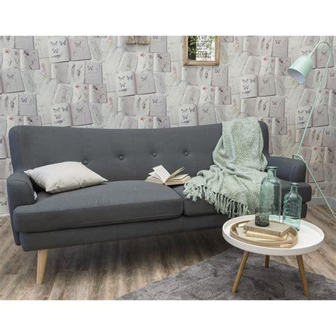 canap 233 3 places gris design r 233 tro scandinave arcus drawer