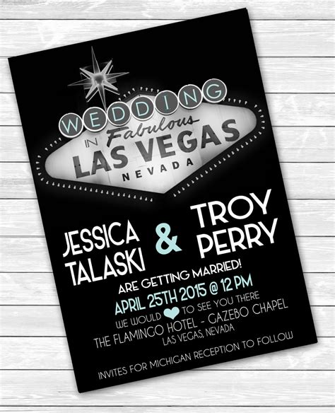 las vegas themed wedding invitations las vegas wedding invitations 5 x 7 desitination