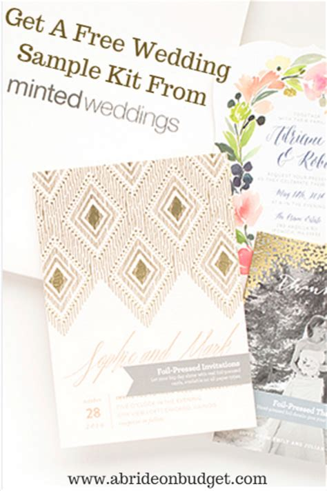 Wedding Planner Kit Free by Get A Free Wedding Sle Kit From Minted Weddings A
