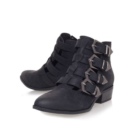 miss kg buster low heel ankle boots in black lyst