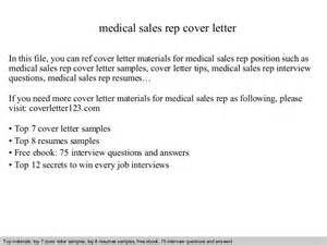 Cover Letter Medical Sales Representative Medical Sales Rep Cover Letter