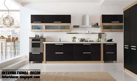 modern black kitchen designs ideas furniture cabinets 2014 international decoration