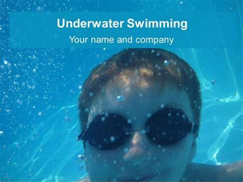 powerpoint templates underwater underwater swimming powerpoint template