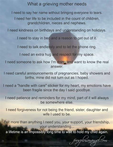words of comfort to a grieving mother what i need as a grieving mother four plus an angel