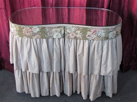 how to a dressing table skirt lot detail vintage 3 drawer dressing table vanity with