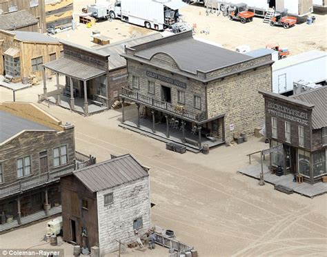 western movie sets in new mexico lone ranger filmmakers weave their magic to create west town in the desert daily mail