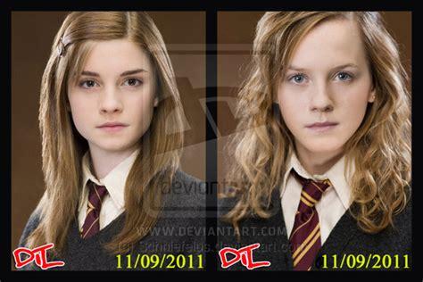 ginny weasley hermione granger by schniefelus on deviantart