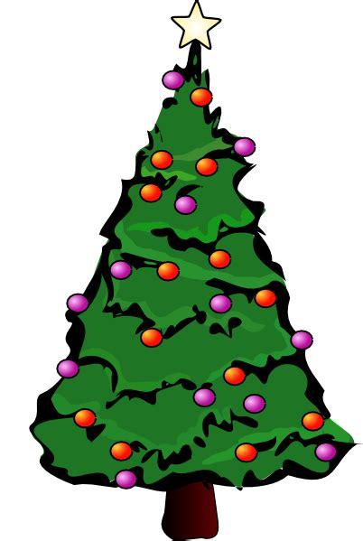 Christmas Tree Clip Art at Clker.com - vector clip art ... Free Clipart Of Christmas Tree